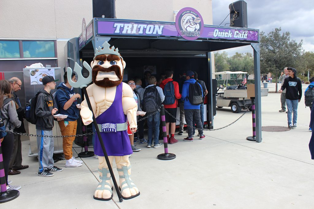 Eastlake Middle School Triton Mascot
