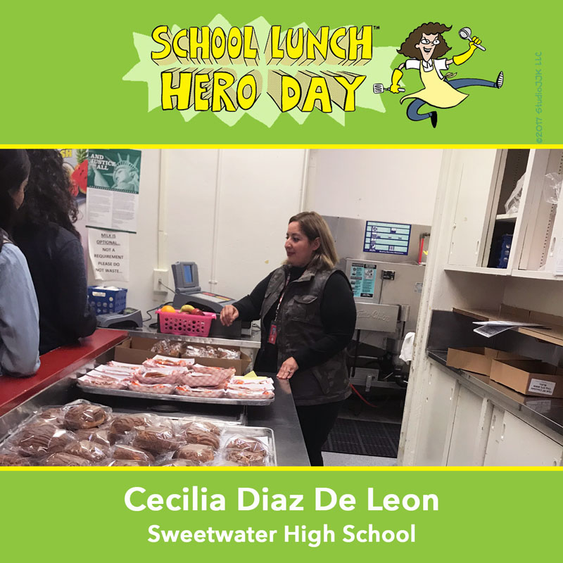 Cecilia Diaz De Leon School Lunch Hero